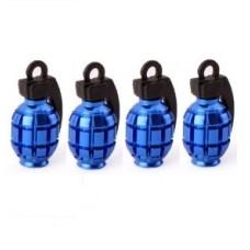 4pcs Hand Grenade Style Tyre Valve Caps